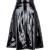 River Island Womens Black high shine midi skirt