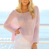 SABO SKIRT  Slouch Knit - Pastel Pink - $58.00