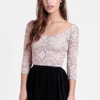 Pretty In Pink Open Knit Crop Top - $28.00 : ThreadSence, Women's Indie & Bohemian Clothing, Dresses, & Accessories