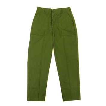 Vintage Green Military Trousers - Pants Olive Drab Army Fatigues Menswear - Men's Size 32 Waist 30 Inseam 32 W 30 L Medium Med M