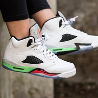 Bunchsun Air Jordan 5 Hot Sale Women Men Sport Running Basketball Shoes Sneakers