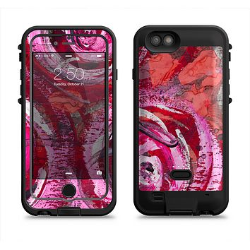 The Watercolor Bright Pink Floral  iPhone 6/6s Plus LifeProof Fre POWER Case Skin Kit
