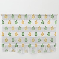 Yellow and green raindrops by Savousepate