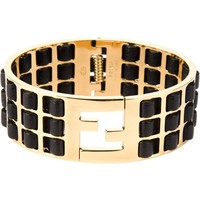 Fendi leather insert bracelet
