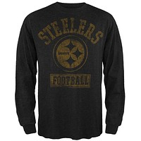 Pittsburgh Steelers - Vintage Logo Long Sleeve T-Shirt