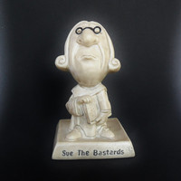 Lawyer Collectible Figurine Funny Statue R & W Berries Co Sue the Bastards Attorney Humor Judge Counselor Solicitor Law Office Decor