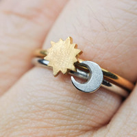 Choose Your Ring Stacking Rings (Moon, Sun, Star)