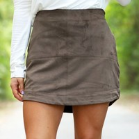 The Iverson Skirt in Olive | Monday Dress Boutique