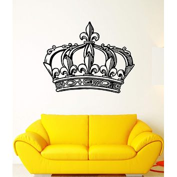 Wall Decal Crown King Power Kingdom Emperor Sceptre Mural Vinyl Decal Unique Gift (ed325)