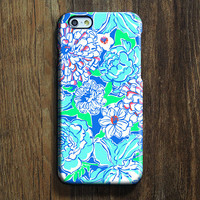 Blue White Floral  iPhone 6s Case iPhone 6s Plus Case iPhone 6 Cover iPhone 5S 5 iPhone 5C Samsung Galaxy S6 Edge Galaxy s6 s5 s4 Galaxy Note 5Note 4 Case 138