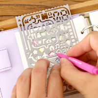 Creative Hollow Metal Ruler Multifunction Craft Dies Graffiti Drawing Template Ruler Scrapbooking Dies Metal Spellbinders