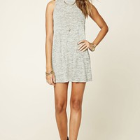 Marled Knit Sweater Dress