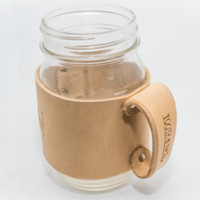 Leather Koozie - Natural Tanned