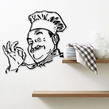 Wall Sticker Vinyl Decal for Kitchen Cook Food Restaurant Chef Unique Gift (ig1266)