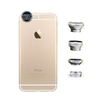 New 4in1 Fish Eye+Wide Angle Macro Telephoto Lens Camera for iPhone 6 6S/Plus 5S