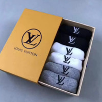 LV Woman Men Cotton invisible socks+Gift Box