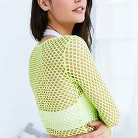 Out From Under Diamond Fishnet Long Sleeve Top - Urban Outfitters