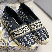 DIOR hot sale embroidered fisherman shoes