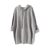 Hooded Boyfriend Sweater Dress