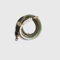 Olive Ombre Rope Adjustable Leash