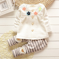 Baby Girl Clothes  Spring Fashion Newborn Baby Girls Clothes Set Infant Girl Long Sleeve Clothing