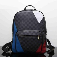 Louis Vuitton Leather Bookbag Shoulder Bag Handbag Backpack