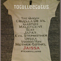 Disney Inspired Villains TShirt Custom with your name