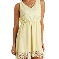 Lace & Chiffon Skater Dress by Charlotte Russe