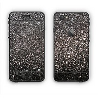 The Black Unfocused Sparkle Apple iPhone 6 LifeProof Nuud Case Skin Set