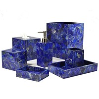 Taj Lapis Bath Accessories by Mike + Ally