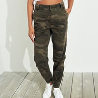 Girls Classic Stretch Ultra High-Rise Twill Joggers | Girls Bottoms | HollisterCo.com