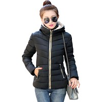 New 2017 Winter coat women Factory direct sale Korean short new slim cotton clothing for fall woman vestidos BD021