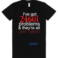 Javert's Problems-Female Black T-Shirt