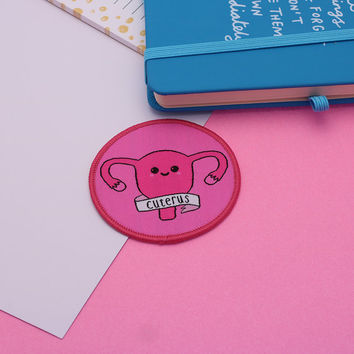 Cuterus Iron On Patch // uterus patch, patch game, feminist patch // PT001
