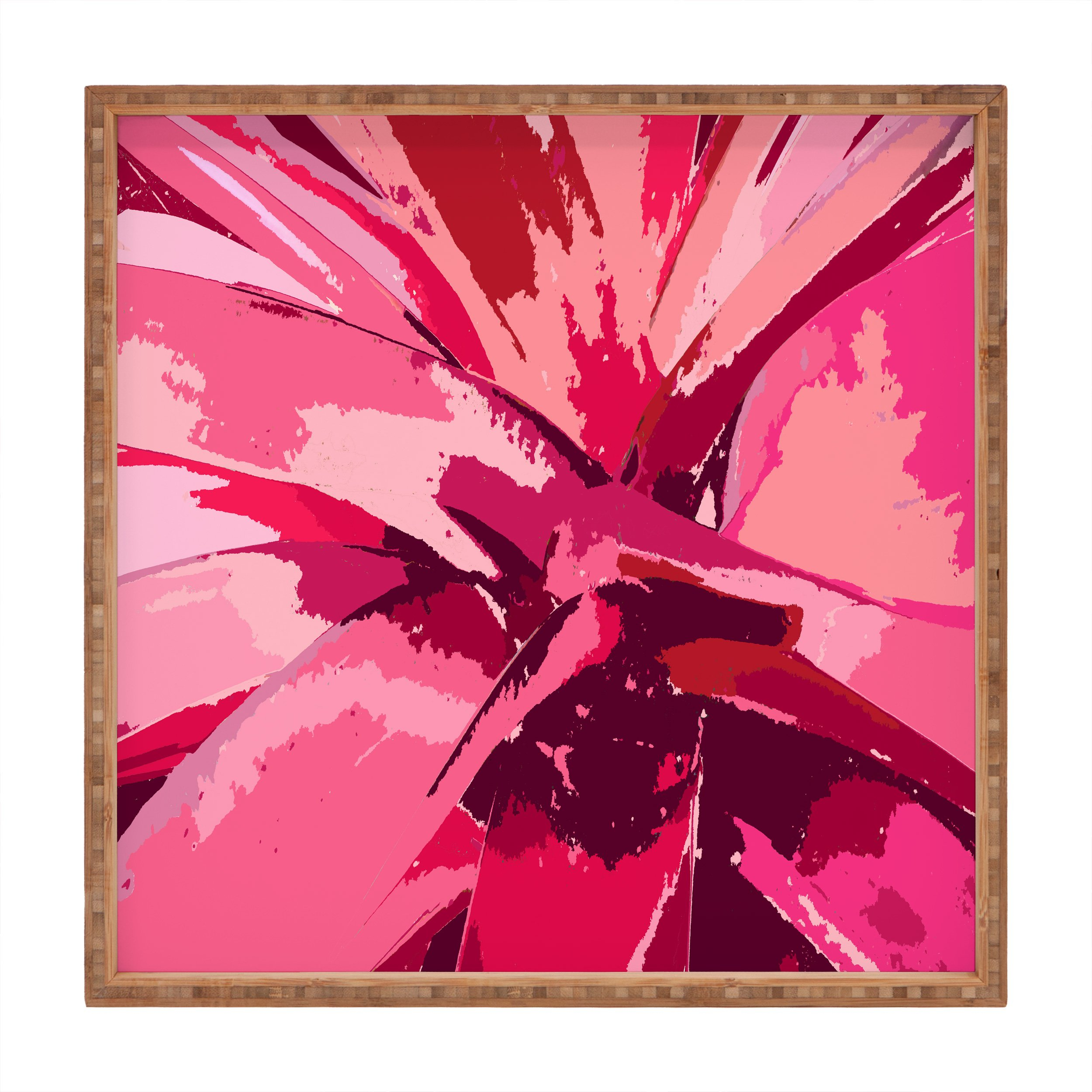 Image of Rosie Brown Blushing Bromeliad Square Tray