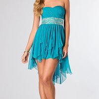 High Low Strapless Dress from LA Glo
