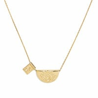 Gold Lotus and Little Buddha Necklace