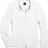 Sperry Top-Sider Mini Anchor Print Shirt Ivory, Size S  Women's