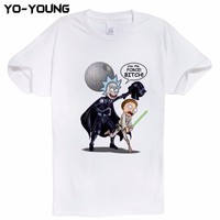 Newest Rick And Morty T Shirts Men Digital Printing 100% 180 gsm Combed Cotton Casual Rick & Morty T-shirts Homme Customized