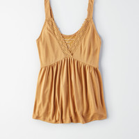 AE Soft & Sexy Sueded Lace Top, Yellow
