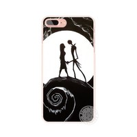 HAMEINUO Jack&Sally Nightmare Before Christmas cell phone Cover case for iphone 6 4 4s 5 5s SE 5c 6 6s 7 8 X plus