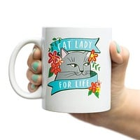 Cat Lady For Life Mug