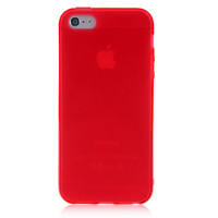 Red Solid Color Case For iPhone 5 & 5S