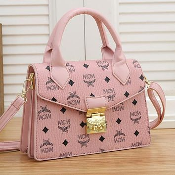 MCM New Products Fully Printed Letters Ladies Shopping Handbags Shoulder Bags Messenger Bag