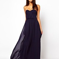 ASOS Bandeau Ruched Maxi Dress at asos.com