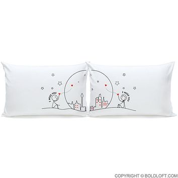 Miss Us Together™ Couple Pillowcase Set