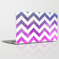 Chevron with Rising Bubbles Laptop & iPad Skin by Tjc555