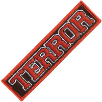 Terror Men's Logo Embroidered Patch Red