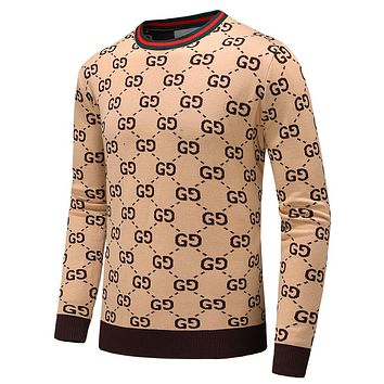 GUCCI 2018 autumn and winter new men and women models high collar knit pullover sweater F-A00FS-GJ