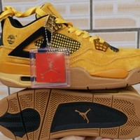 Air Jordan 4 x Timberland Wheat Basketball Shoes 40-47